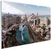 Bellagio fontein Las Vegas Glas 90x60 cm - Foto print op Glas (Plexiglas wanddecoratie)