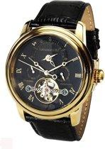 Calvaneo 1583 Calvaneo Evidence Gold, Black Dial - Horloge - 44 mm - Automatisch uurwerk