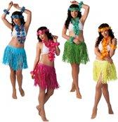 Hawaii kransen set met rokje  Groen