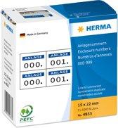 HERMA Zelfkl. nummers 15x22 mm