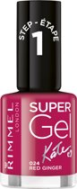 Rimmel London SuperGel by Kate - 024 Red Ringer - Gel Nagellak