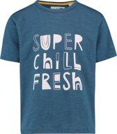 NOP Jongens T-shirt met korte mouwen Anniston - Majolica Blue - Maat 116