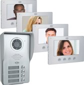 ELRO DV477W4 Video Deur Intercom - 4 Appartementen - Met 4x 7 inch kleurenscherm