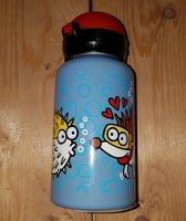 Drinkfles kinder, alu, 350ml, blauw, onderwater