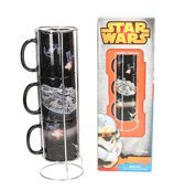 STAR WARS MUG BATTLE DEATH STAR-FALCON 3 MUGS