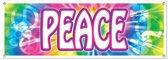 Banner PEACE 150x53 cm weerbestendig