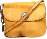 Pieces Totally Royal Leather Party Bag - Cognac - Maat ONE SIZE