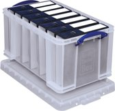 Really Useful Box 48 liter transparant wit