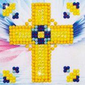 Diamond Dotz ® painting Golden Cross (7.6x7.6 cm)
