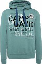 groen Sweatshirt met capuchon uit de