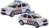 Voordeelset van 2 stuks politie auto met licht en geluid