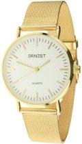 Ernest horloge goudkleurig, stainless steel