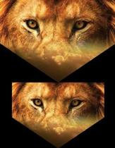 Lion Eyes: 8.5 X 11 Notebook