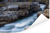 Woeste wateren in het Nationaal park Abisko in Zweden Poster 90x60 cm - Foto print op Poster (wanddecoratie woonkamer / slaapkamer)