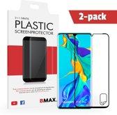 2-pack BMAX Huawei P30 Pro Screenprotector / Full Cover Beschermfolie / Ultra Clear PET / Onzichtbaar Display Folie
