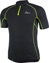 Rogelli Perugia Jersey SS - Fietsshirt - Korte Mouw - Zwart/Geel - Maat XXXL