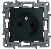 Legrand NILOÉ inbouw stopcontact - PENAARDE - enkelvoudig - antraciet