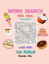 Word Search For Kids Puzzles 100 Game Book