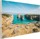 De eilandboog Hout 120x80 cm - Foto print op Hout (Wanddecoratie) / Zee en Strand