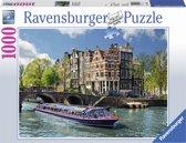 Ravensburger puzzel Rondvaart door Amsterdam - Legpuzzel - 1000 stukjes