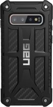UAG Carbon Monarch Backcover hoesje voor de Samsung Galaxy S10 - Zwart