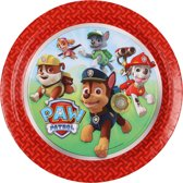 Paw Patrol Kartonnen-wegwerp-borden-rood - Maat One-size