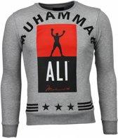 Local Fanatic Muhammad Ali Stars - Sweater - Grijs - Maat: XS