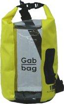 Dry Gabbag - 15 liter - Geel - 100% waterdicht - Venster