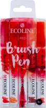 "Talens Ecoline 5 brush pens ""Red"""