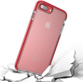 Let op type!! Voor iPhone 8 Plus & 7 Plus & 6 Plus Basketbal Texture Anti-collision TPU back cover beschermhoes (rood)