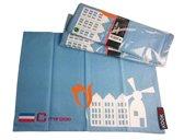 KOOK set van 4 katoenen placemats in lichtblauw met Holland-dessin