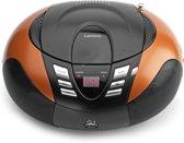 Lenco SCD-37USB - Draagbare Radio/CD-speler - Oranje