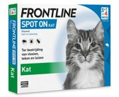Frontline Spot On - Kat -Tegen vlooien en teken - 4 pipetten