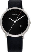 BERING 11139-402 - Horloge - Leer Zilverkleurig - Ø 39 mm