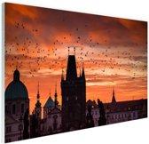 Ochtend in Praag Glas 30x20 cm - klein - Foto print op Glas (Plexiglas wanddecoratie)