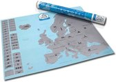 Scratch Map Euro Kras World Map Deluxe - Europa Kraskaart - Scratchmap Euro Poster