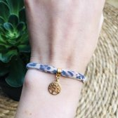 Armband Leopard Brown Tree of life goud