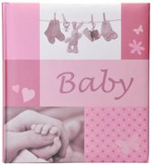 Henzo JESSY fotoalbum - Babyalbum - 28 x 30,5 cm - Roze - 60 Pagina's