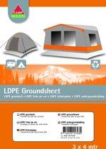 Camp-gear Ondergrondzeil - 3 X 4 Meter - Transparant