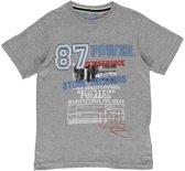 Losan Jongens T-Shirt Grijs met Print en applicatie - Maat 128