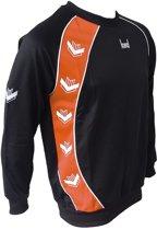 KWD Sweater Pronto - Zwart/oranje - Maat S