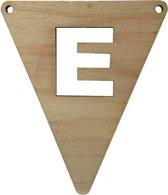 Houten Vlagletter E | 11,5 cm