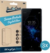 Just in Case Screen Protector Sony Xperia XZ2 Compact - Crystal Clear - 3 stuks