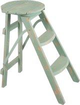 Kruk / Trapje 34*53*60 cm Groen | 6H1605 | Clayre & Eef