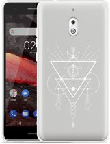 Nokia 2.1 Hoesje Abstract Moon White
