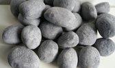 24 delige set keramische stenen/ keramische kiezelstenen: licht grijs. Geschikt voor alle warmtebronnen. Gratis verzending!