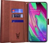 Samsung Galaxy A40 Hoesje - Book Case Portemonnee - iCall - Bruin