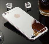 Mooi siliconen hoesje met spiegel achterkant voor een optimale bescherming van de Apple Iphone 5s, goud , merk i12Cover