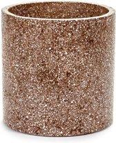 Serax NV - pot terrazzo brown d25 h25 - rood