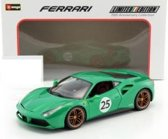 "Ferrari 488 GTB #25 ""The Green Jewel"" 70th Anniversary Collection 1-18 Groen Burago"